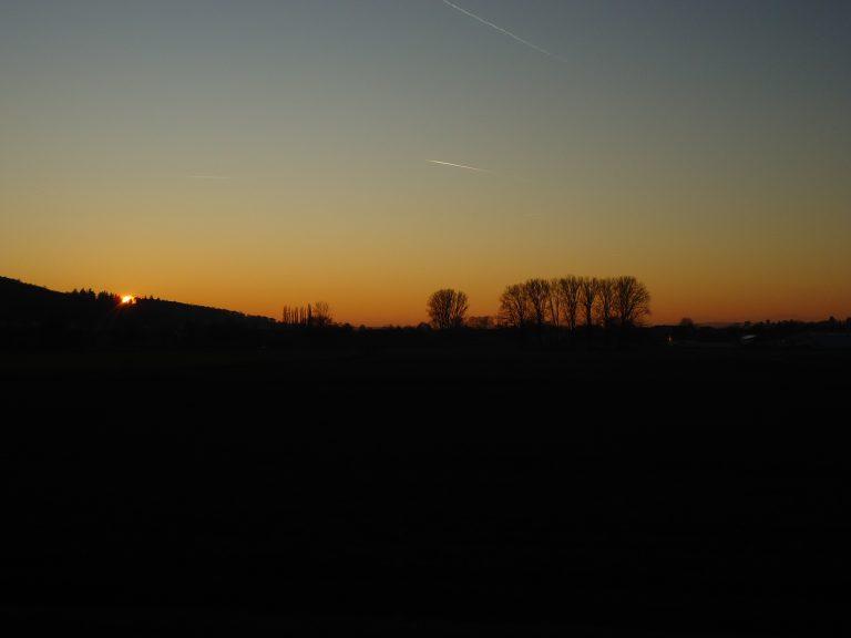 Sonnenuntergang mit Blick vom Damm Richtung Düdelsheim3_MF